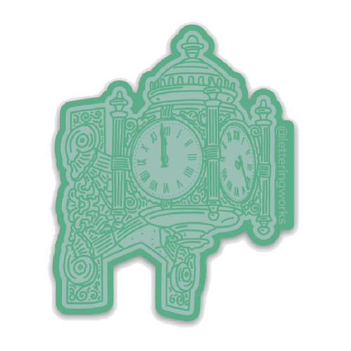 Chicago Clock Sticker