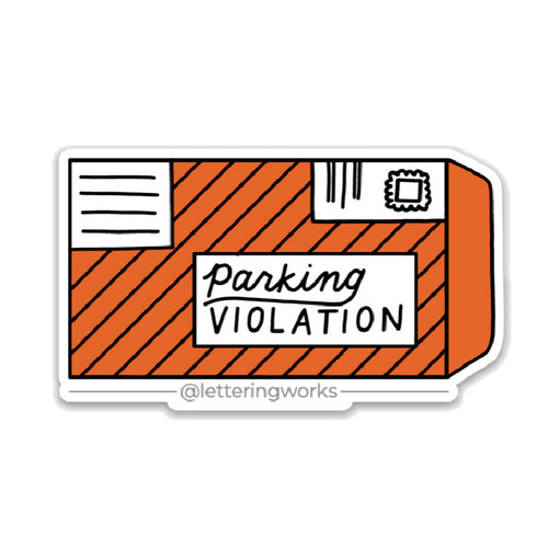 Chicago Parking Ticket Sticker