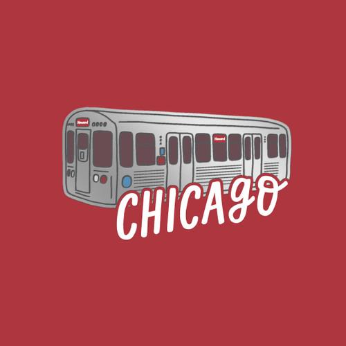 """Chicago """"El"""" 5x7 Foil Print"""