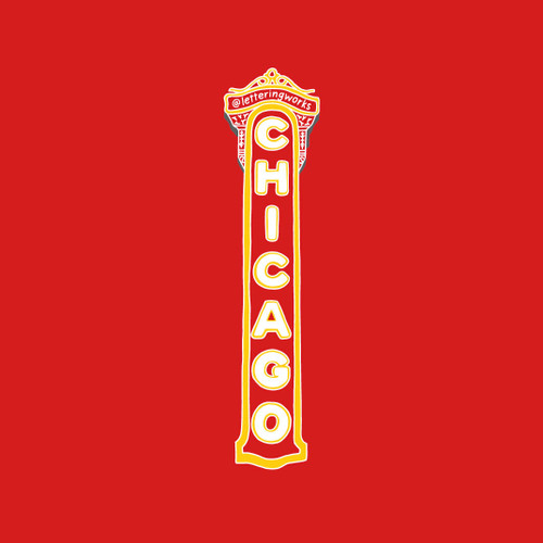 Chicago Theater 5x7 Art Print