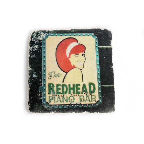The Redhead Piano Bar Tile Coaster