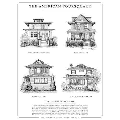 American Foursquare Print