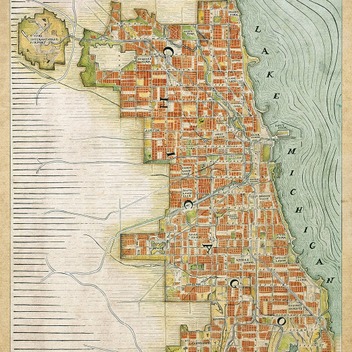 Chicago Renaissance Map Print