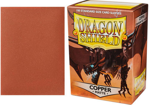 Dragon Shield Sleeves - Matte Copper