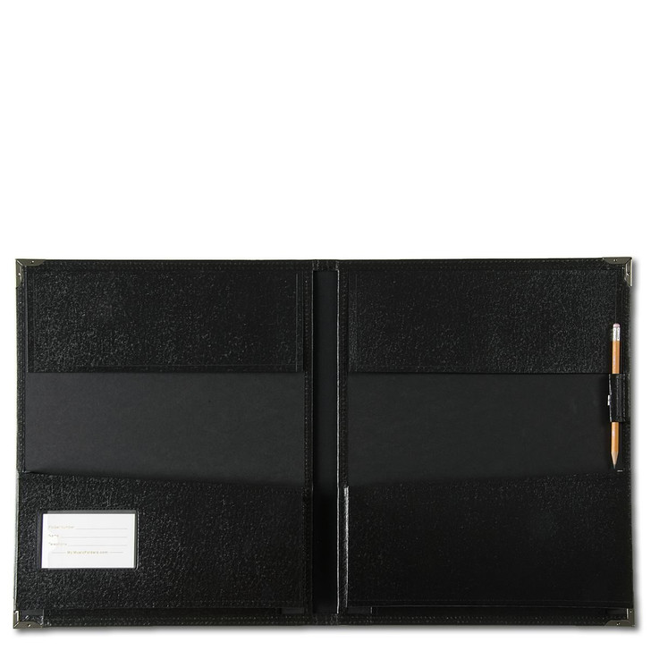 The flaps at the top help to keep music from falling out if the folder is turned upside down.
