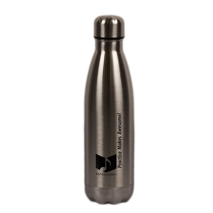 MyMusicFolders Steel Thermal Water Bottle