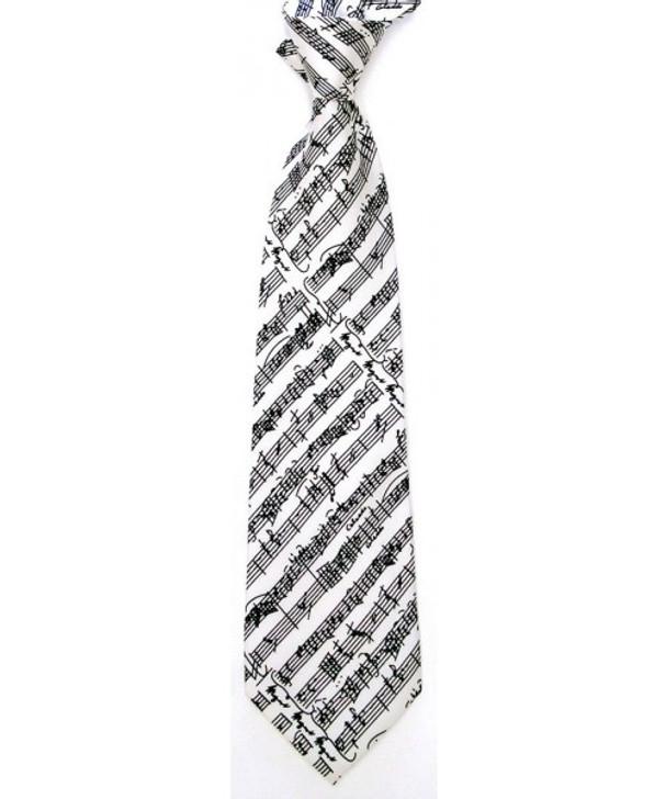 Mozart Silk Tie White & Blk,