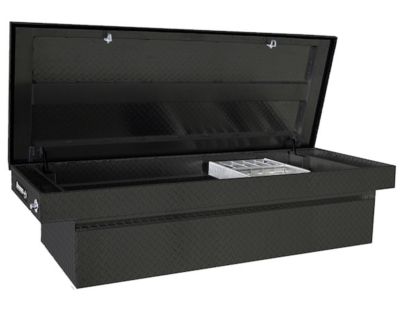 "1729425 BUYERS PRODUCTS BLACK DIAMOND TREAD ALUMINUM CROSSOVER TRUCK TOOLBOX 23""HX27""DX71""W"