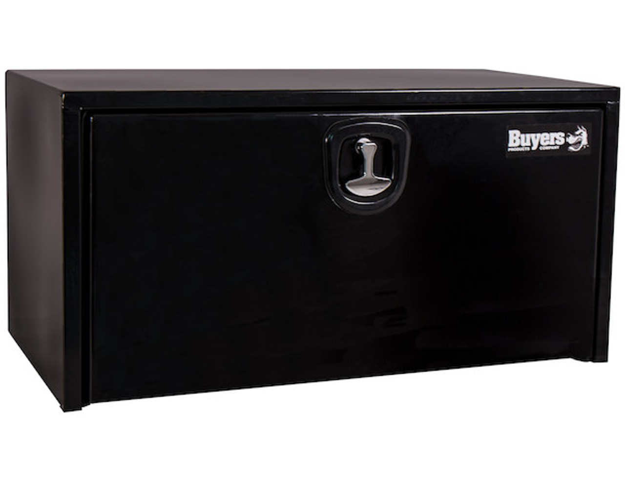 """1734300 BUYERS PRODUCTS BLACK STEEL UNDERBODY TRUCK TOOLBOX WITH 3-POINT LATCH 24""""Hx24""""Dx24""""W"""