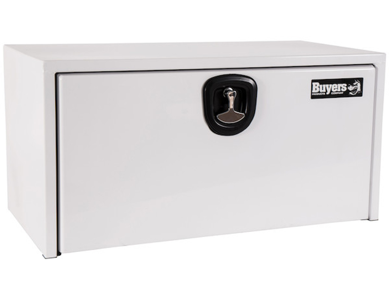 """1734403 BUYERS PRODUCTS WHITE STEEL UNDERBODY TRUCK TOOLBOX WITH 3-POINT LATCH 24""""Hx24""""Dx30""""W"""