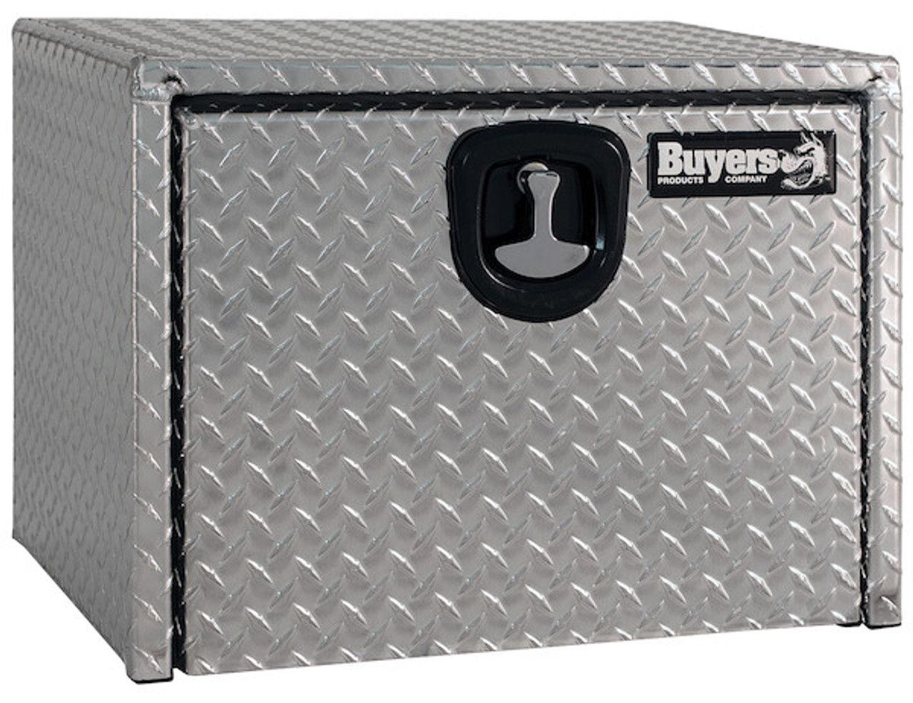 "1735103 BUYERS PRODUCTS DIAMOND TREAD ALUMINUM UNDERBODY TRUCK TOOLBOX WITH 3-PT. LATCH 18""Hx18""Dx30""W"