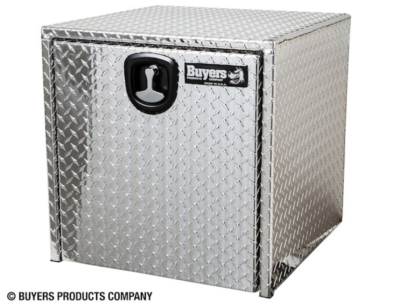 "1735130 BUYERS PRODUCTS DIAMOND TREAD ALUMINUM UNDERBODY TRUCK TOOLBOX WITH 3-PT. LATCH 24""Hx24""Dx24""W"