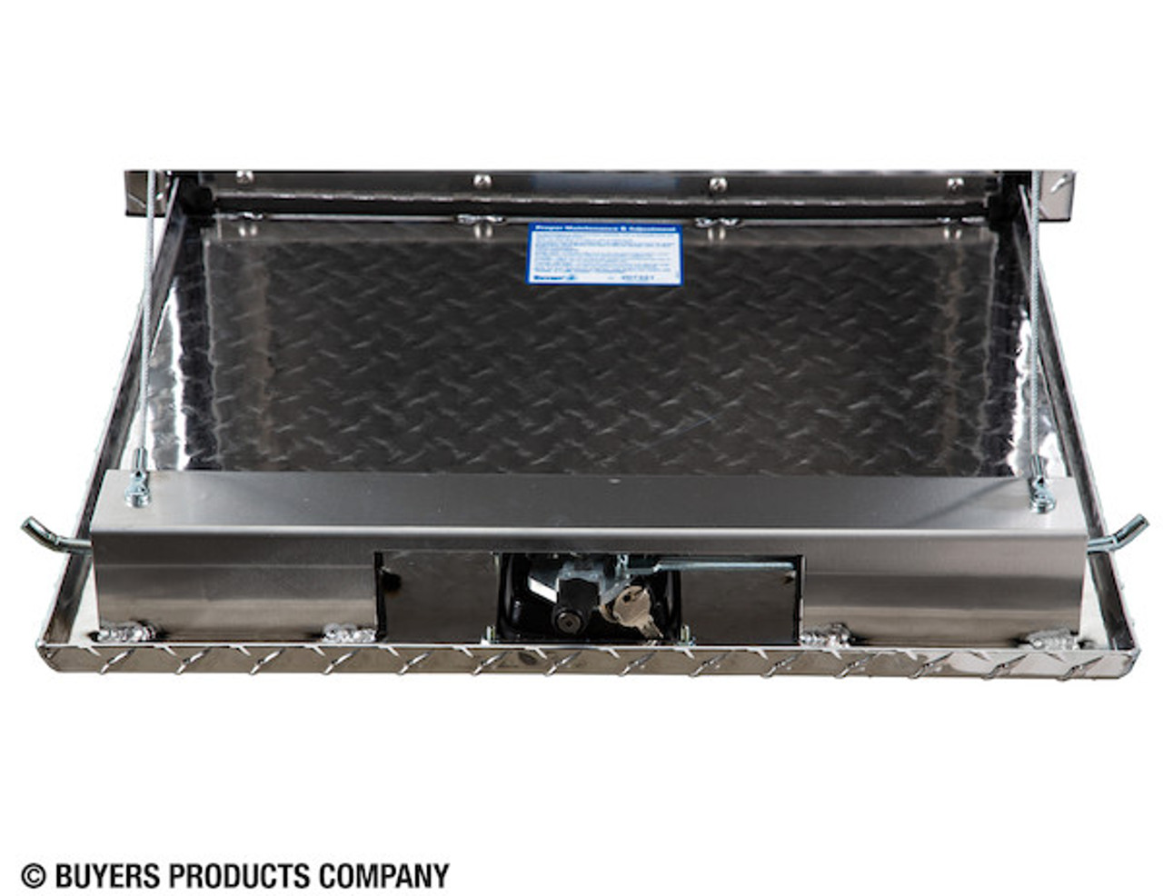 "1735133 BUYERS PRODUCTS DIAMOND TREAD ALUMINUM UNDERBODY TRUCK TOOLBOX WITH 3-PT. LATCH 24""Hx24""Dx30""W"
