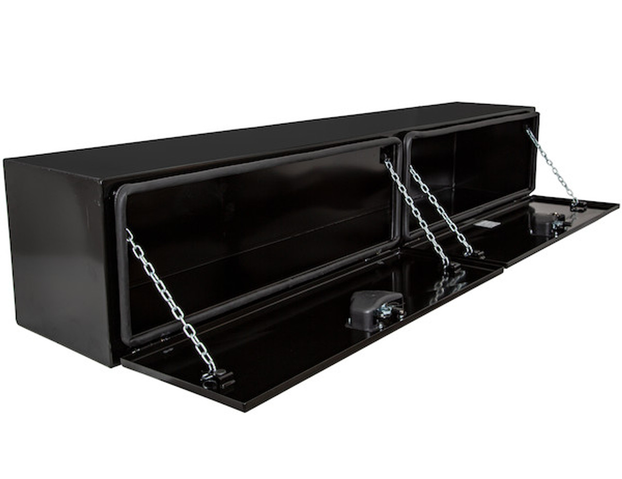 "1742336 BUYERS PRODUCTS XD BLACK STEEL UNDERBODY HEAVY DUTY TRUCK TOOLBOX 18""Hx18""Dx96""W PICTURE # 3"