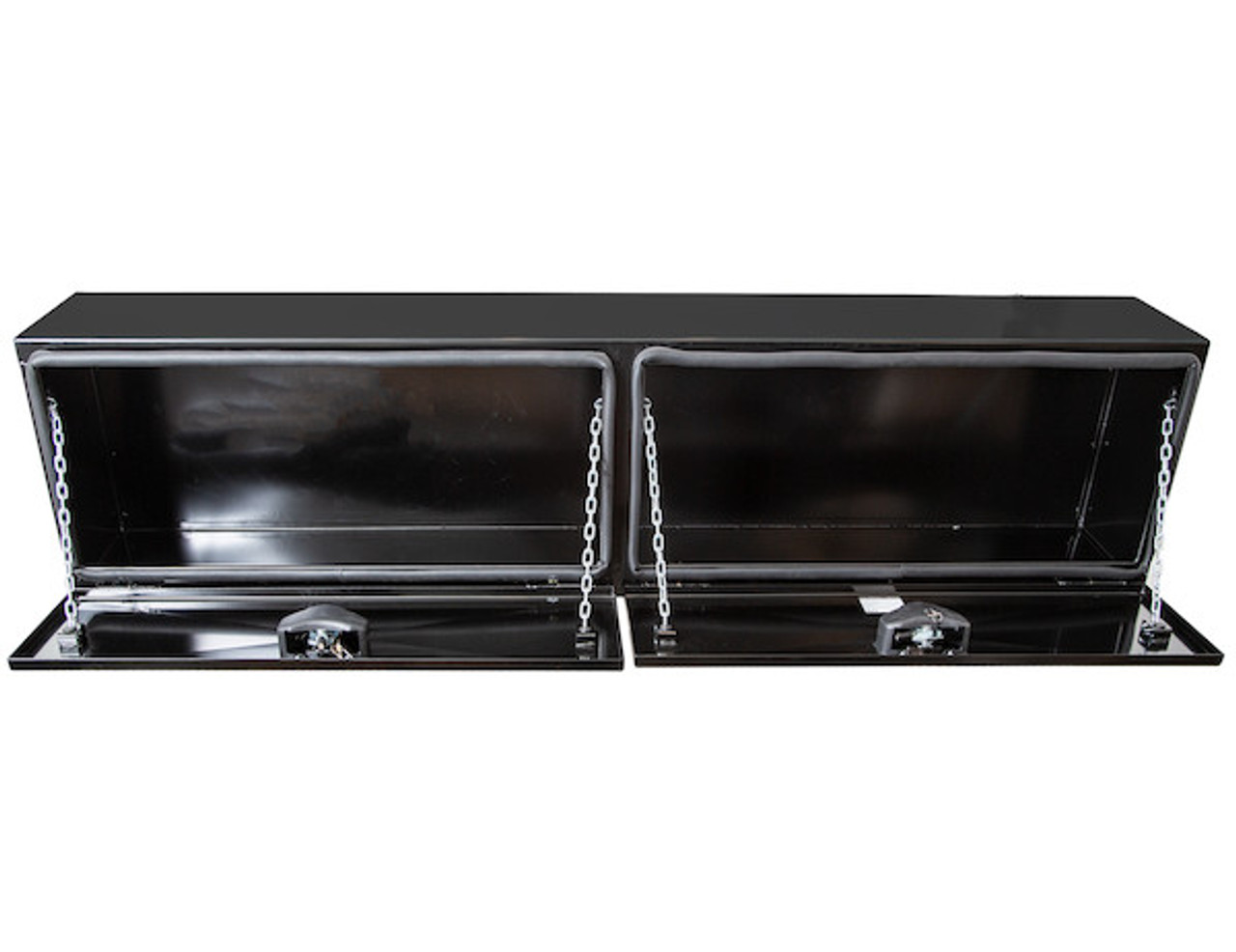 "1742336 BUYERS PRODUCTS XD BLACK STEEL UNDERBODY HEAVY DUTY TRUCK TOOLBOX 18""Hx18""Dx96""W PICTURE # 4"