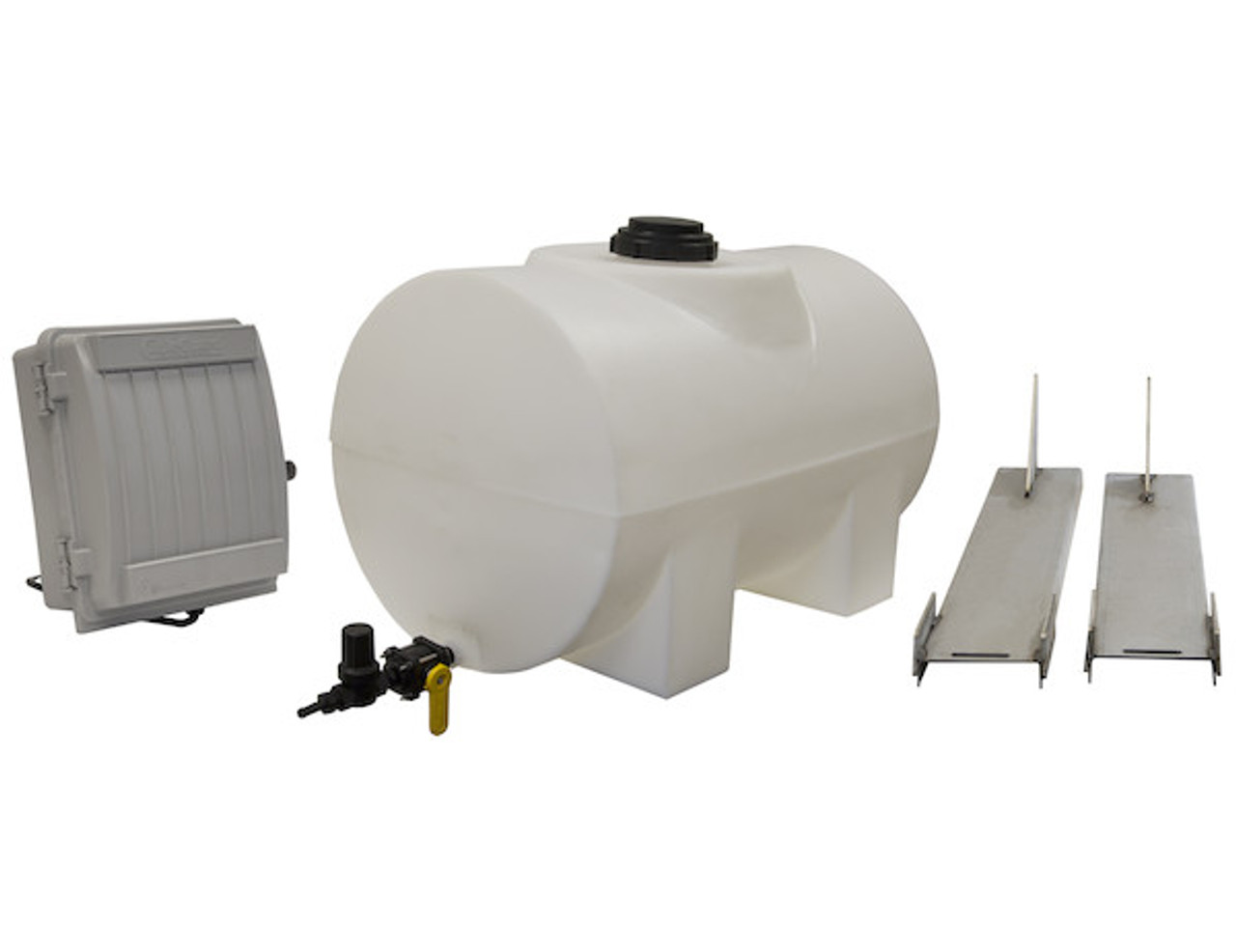 LS3 Buyers SaltDogg 12 VDC Pre-Wet Kit With Two 55-Gallon Poly V-Box Mount Reservoirs Picture #1