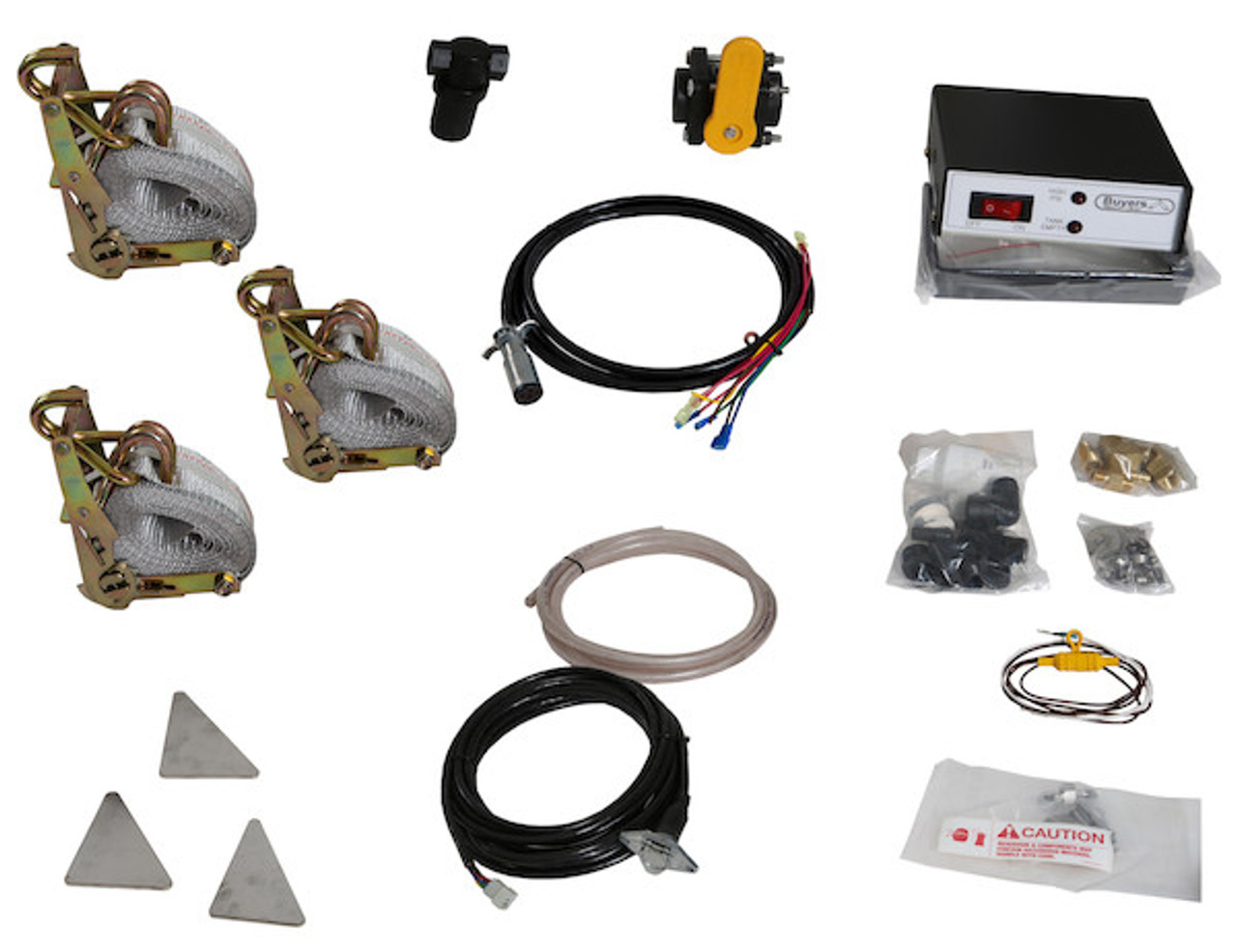 LS4 Buyers SaltDogg 12 VDC Pre-Wet Kit With One 105-Gallon Poly V-Box Mount Reservoir Picture # 1
