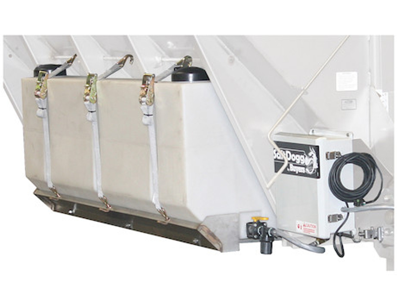 LS5 Buyers SaltDogg 12 VDC Pre-Wet Kit With Two 105-Gallon Wedge Poly V-Box Mount Reservoir Picture # 1