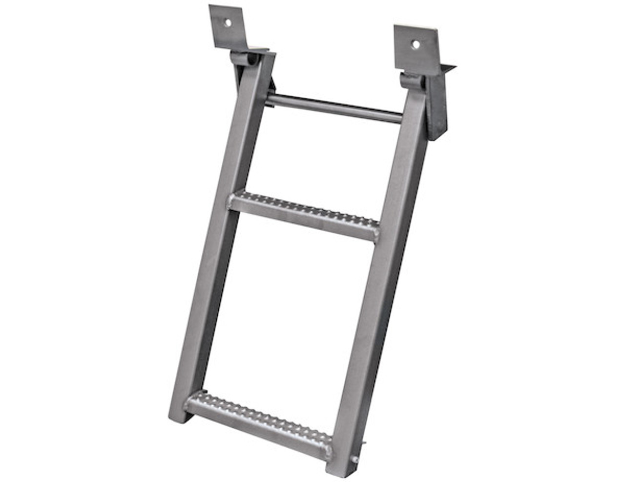 RS2SS Buyer's 2-Rung Stainless Retractable Truck Steps With Nonslip Tread - 17.38 X 30.25 Inch
