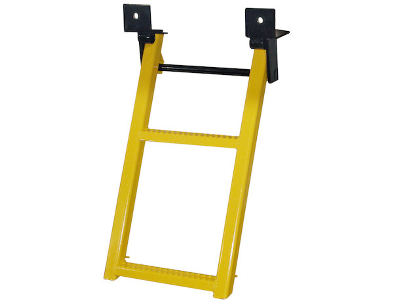 RS2Y Buyer's 2-Rung Yellow Retractable Truck Steps With Nonslip Tread - 17.38 X 30.25 Inch