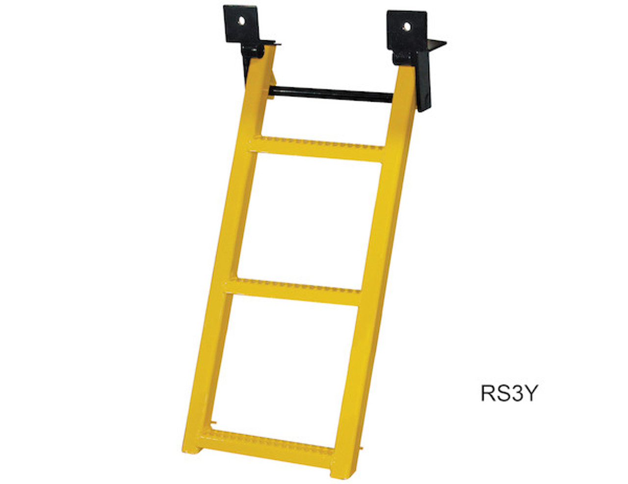 RS3Y Buyers 3-Rung Yellow Retractable Truck Steps With Nonslip Tread - 17.38 X 35 Inch