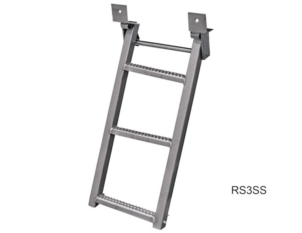 RS3SS Buyers 3-Rung Stainless Retractable Truck Steps With Nonslip Tread - 17.38 X 35 Inch