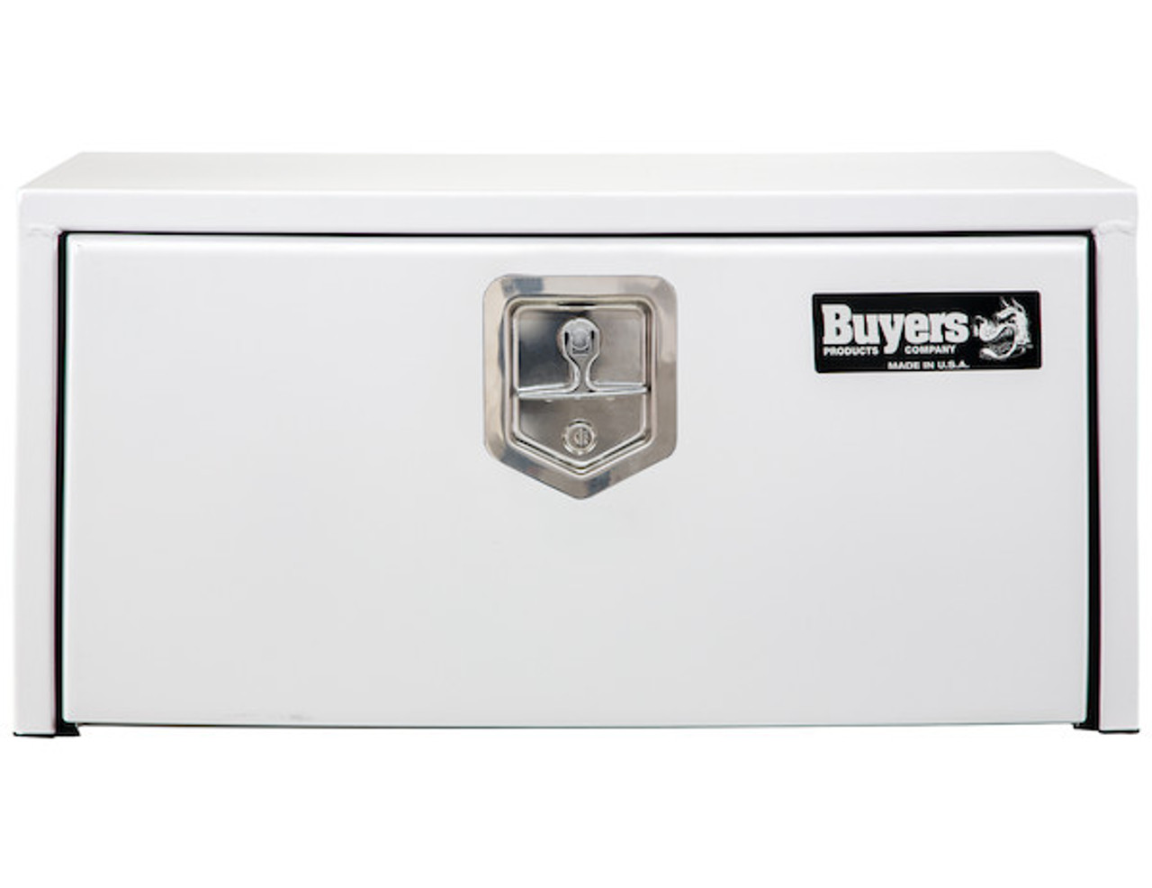 """1703404 BUYERS PRODUCTS WHITE STEEL UNDERBODY TRUCK TOOLBOX WITH BUILT-IN SHELF 14""""HX16""""DX30""""W Picture #"""