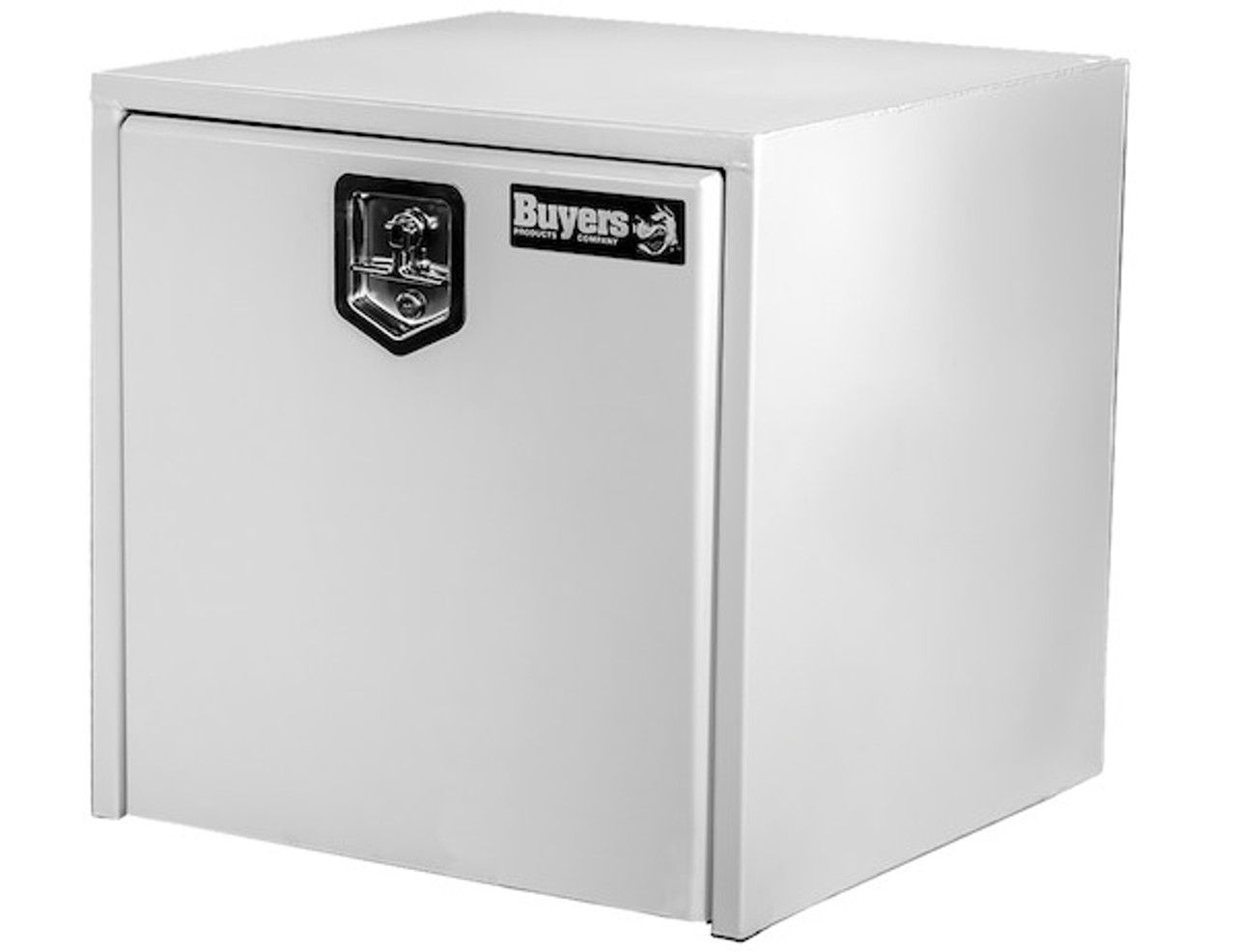 """1703495 BUYERS PRODUCTS WHITE STEEL UNDERBODY TRUCK TOOLBOX 18""""HX18""""DX18""""W"""