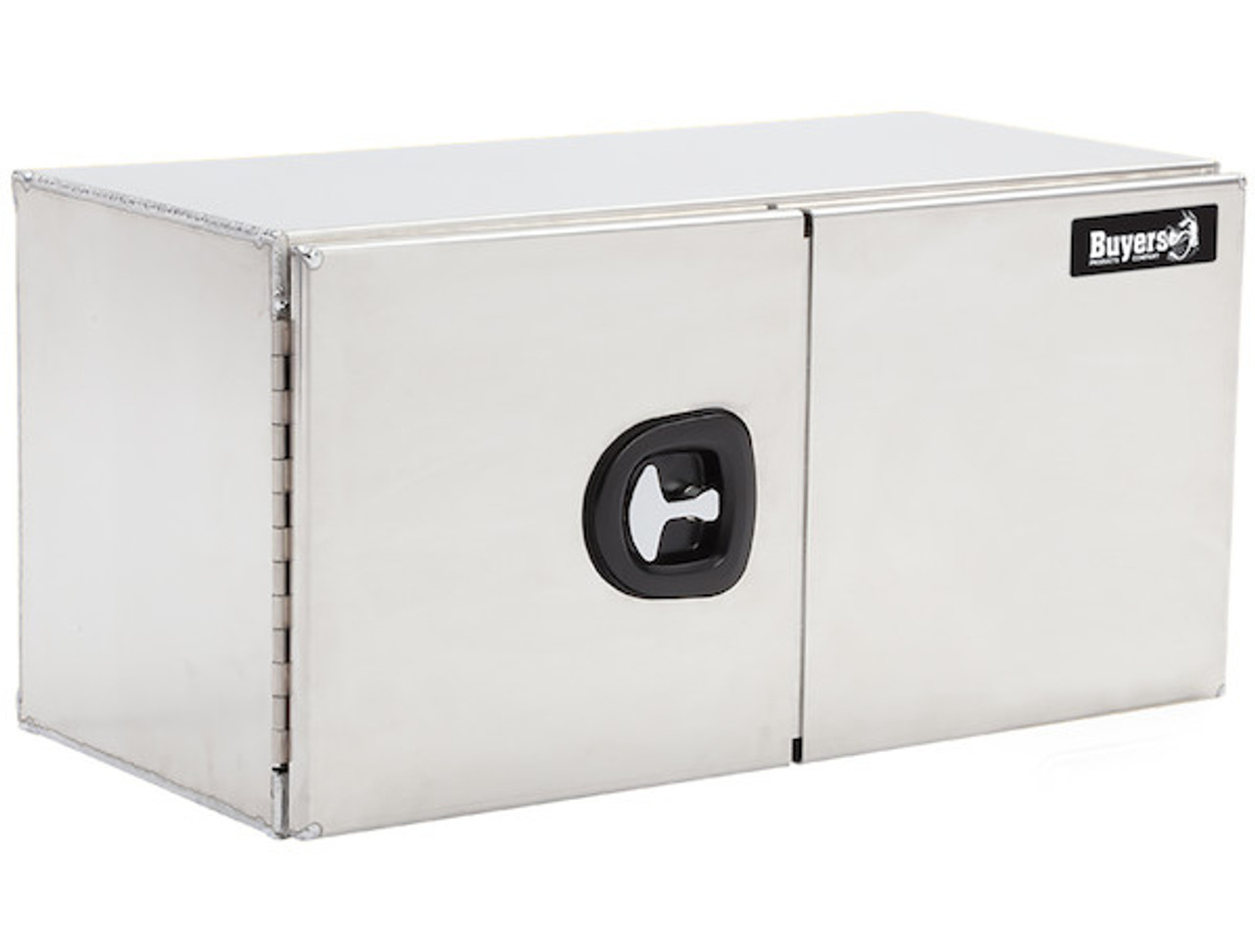 "1705350 BUYERS PRODUCTS SMOOTH ALUMINUM UNDERBODY TOOLBOX WITH BARN DOOR 24""HX24""DX72""W"