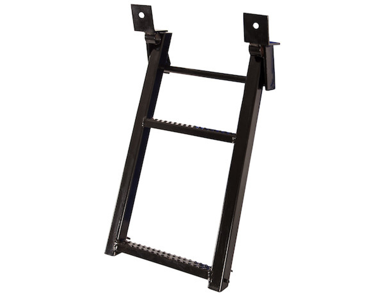 RS2 Buyer's 2-Rung Black Retractable Truck Steps With Nonslip Tread - 17.38 X 30.25 Inch