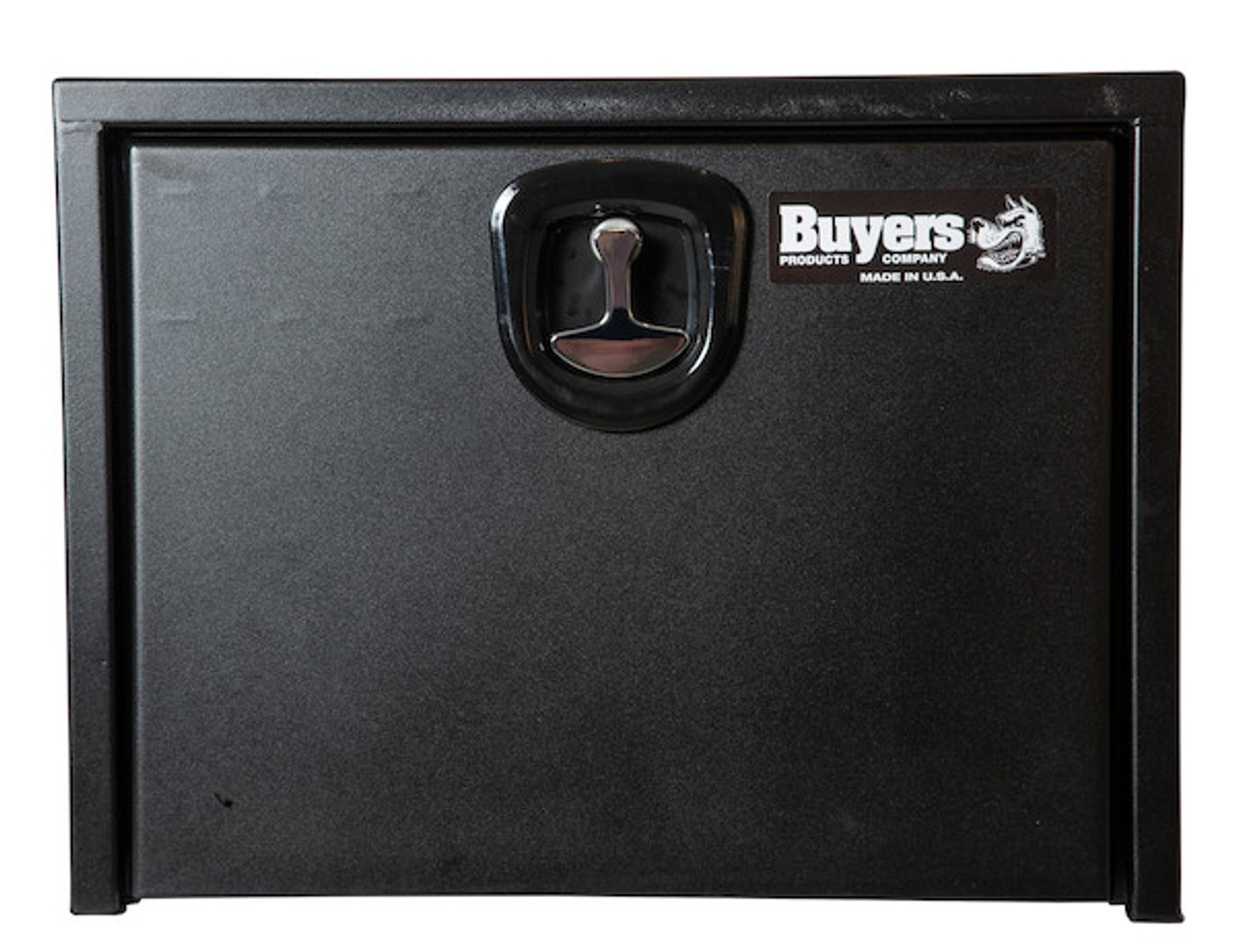 """1732500 BUYERS PRODUCTS TEXTURED MATTE BLACK STEEL UNDERBODY TRUCK TOOLBOX WITH 3-POINT LATCH 18""""Hx18""""Dx24""""W Picture # 3"""