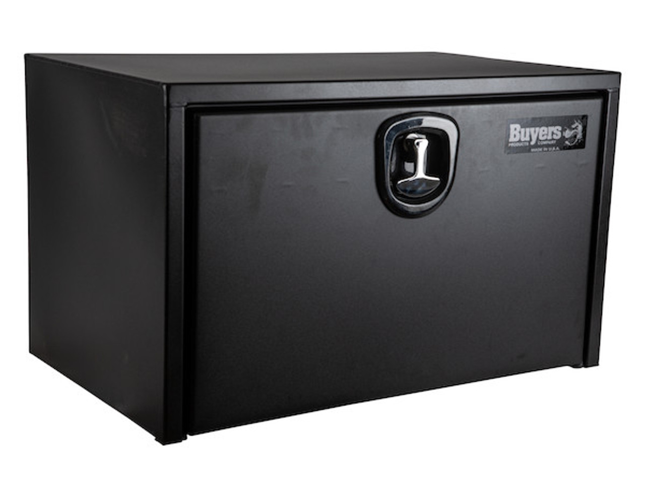 "1732503 BUYERS PRODUCTS TEXTURED MATTE BLACK STEEL UNDERBODY TRUCK TOOLBOX WITH 3-POINT LATCH 18""Hx18""Dx30""W Picture # 1"