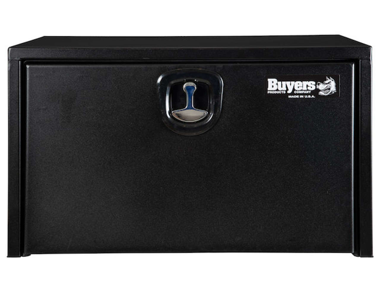 """1732503 BUYERS PRODUCTS TEXTURED MATTE BLACK STEEL UNDERBODY TRUCK TOOLBOX WITH 3-POINT LATCH 18""""Hx18""""Dx30""""W Picture # 3"""