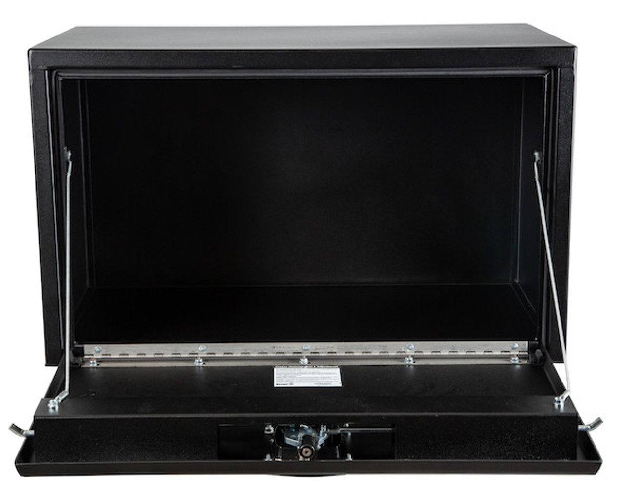 "1732503 BUYERS PRODUCTS TEXTURED MATTE BLACK STEEL UNDERBODY TRUCK TOOLBOX WITH 3-POINT LATCH 18""Hx18""Dx30""W Picture # 4"