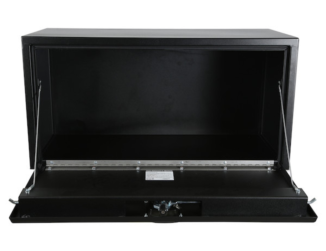"1732510 BUYERS PRODUCTS TEXTURED MATTE BLACK STEEL UNDERBODY TRUCK TOOLBOX WITH 3-POINT LATCH 18""Hx18""Dx48""W  Picture # 5"