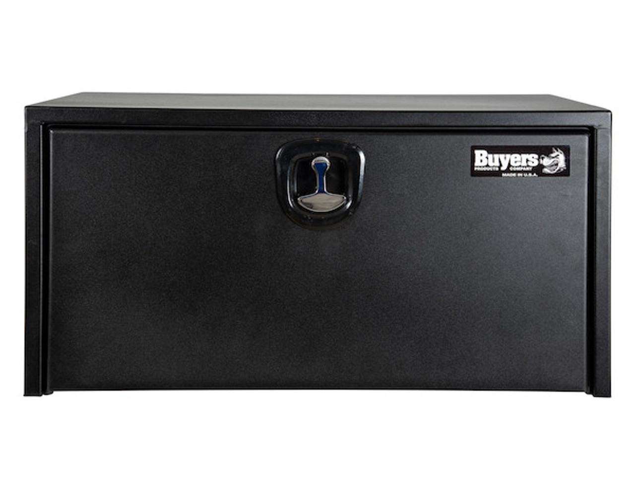 "1734505 BUYERS PRODUCTS TEXTURED MATTE BLACK STEEL UNDERBODY TRUCK TOOLBOX WITH 3-POINT LATCH 24""Hx24""Dx36""W  Picture # 2"