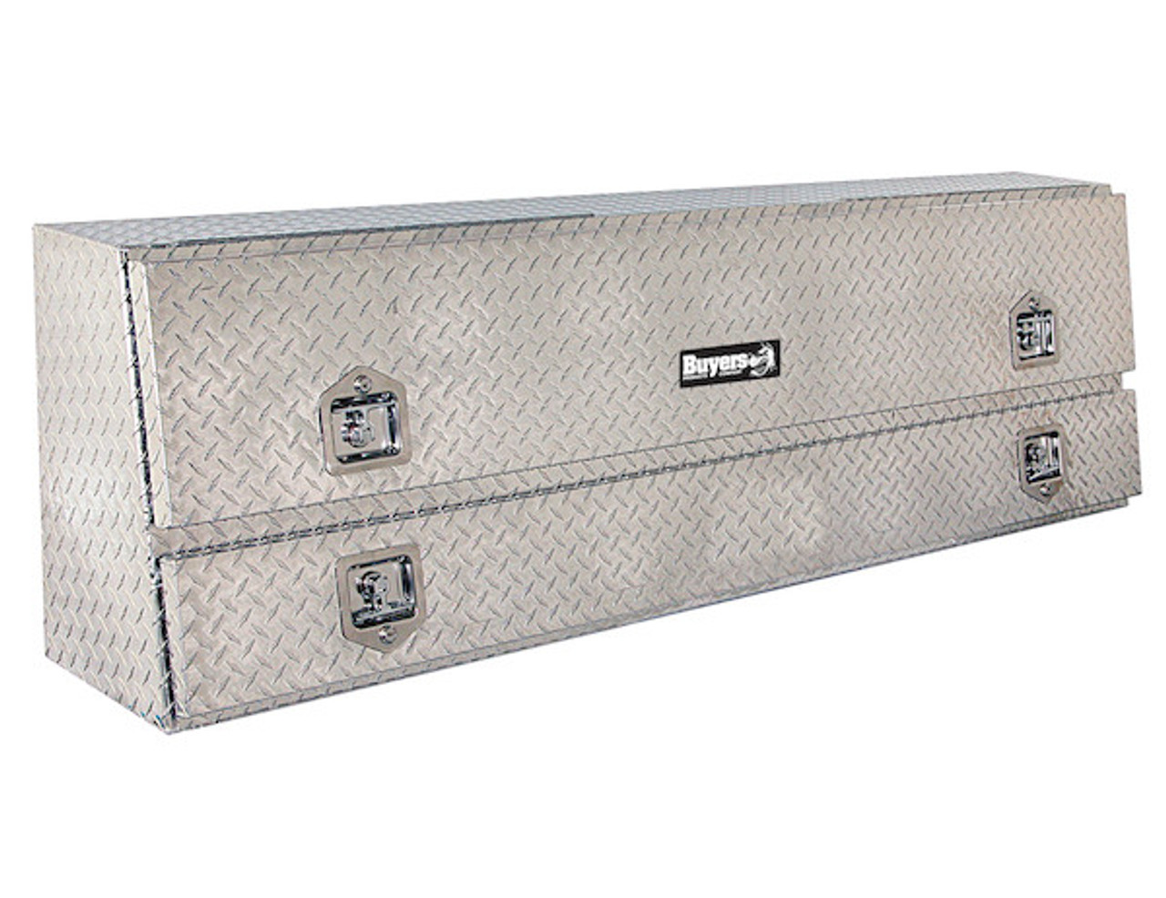 "1705640 BUYERS PRODUCTS DIAMOND TREAD ALUMINUM CONTRACTOR TRUCK TOOLBOX 21""HX13.5""DX72""W"