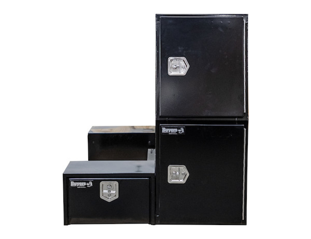 """BP855548B BUYERS BLACK STEEL L-PACK TRUCK BOX WITH OFFSET FLOOR 55""""Hx48""""Dx85""""W Picture # 9"""