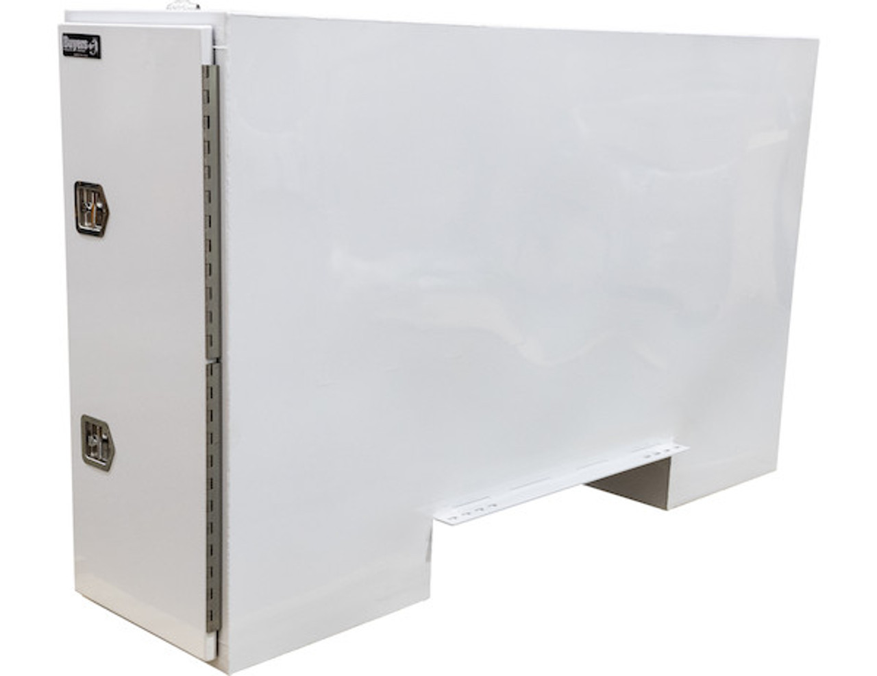 """BP965724W BUYERS WHITE STEEL STRAIGHT SIDE BACKPACK TRUCK TOOL BOX WITH OFFSET FLOOR 57""""HX24""""DX96""""W PICTURE # 2"""