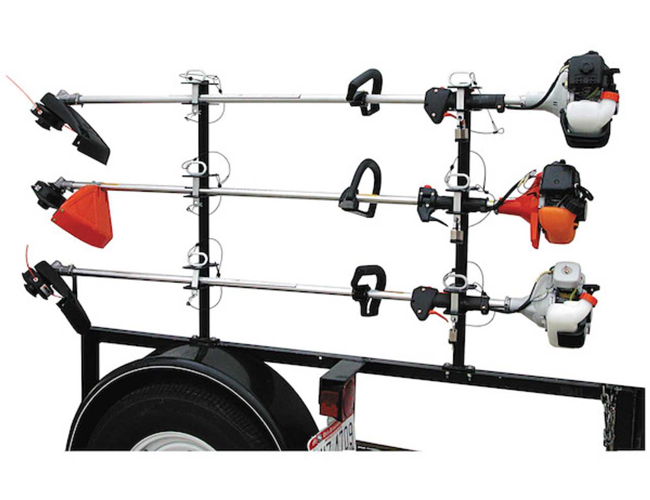 Buyers LT13 Lockable Trimmer Rack Carrier Holder for Up to 3 Trimmers for Trailers and Trucks Picture # 2