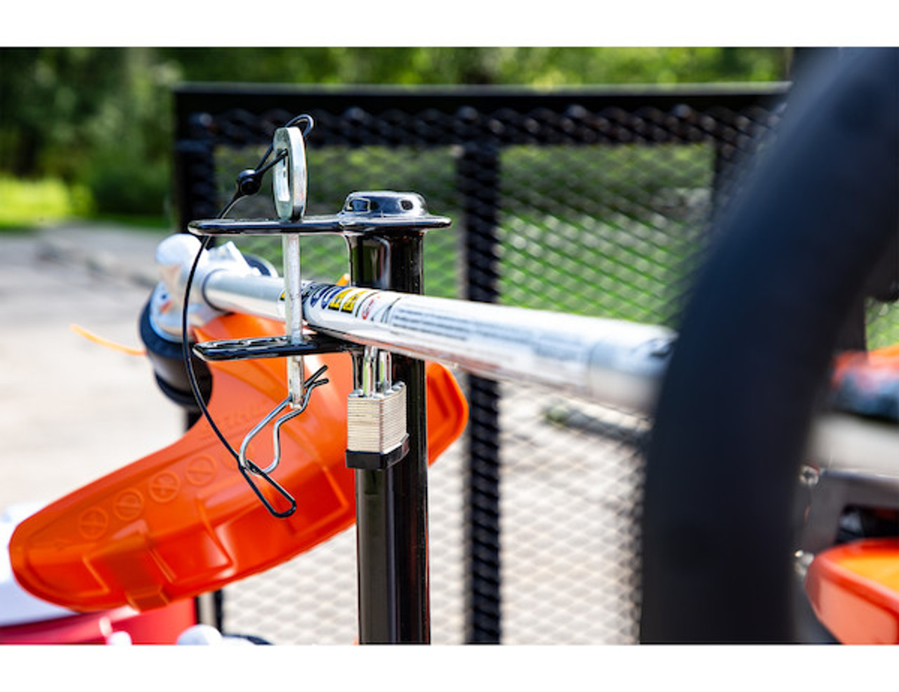 Buyers LT13 Lockable Trimmer Rack Carrier Holder for Up to 3 Trimmers for Trailers and Trucks Picture # 6