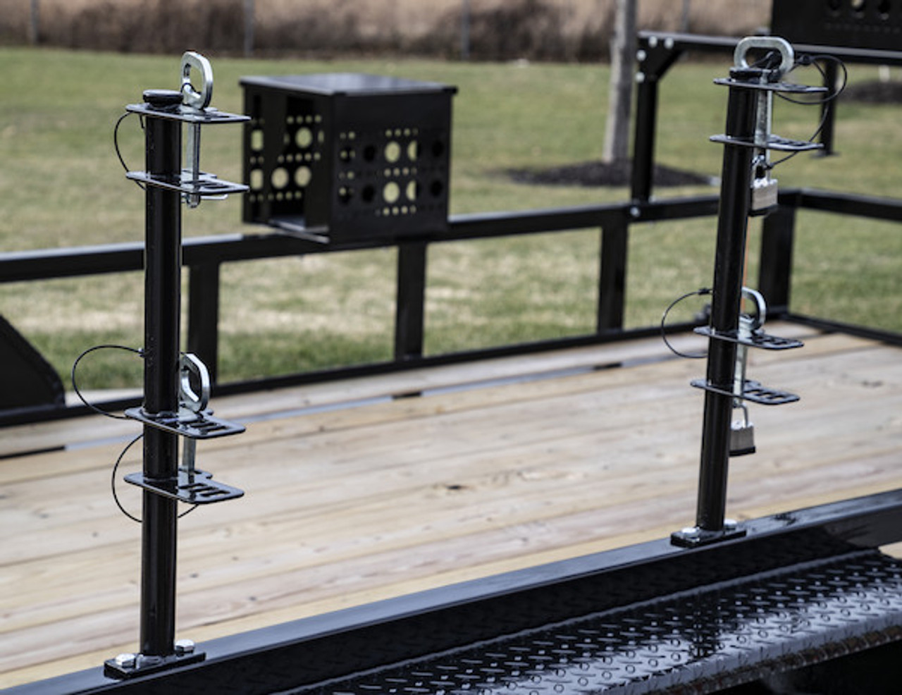 Buyers LT18 Lockable Trimmer Rack Carrier Holder for Up to 2 Trimmers for Trailers and Trucks Picture # 1