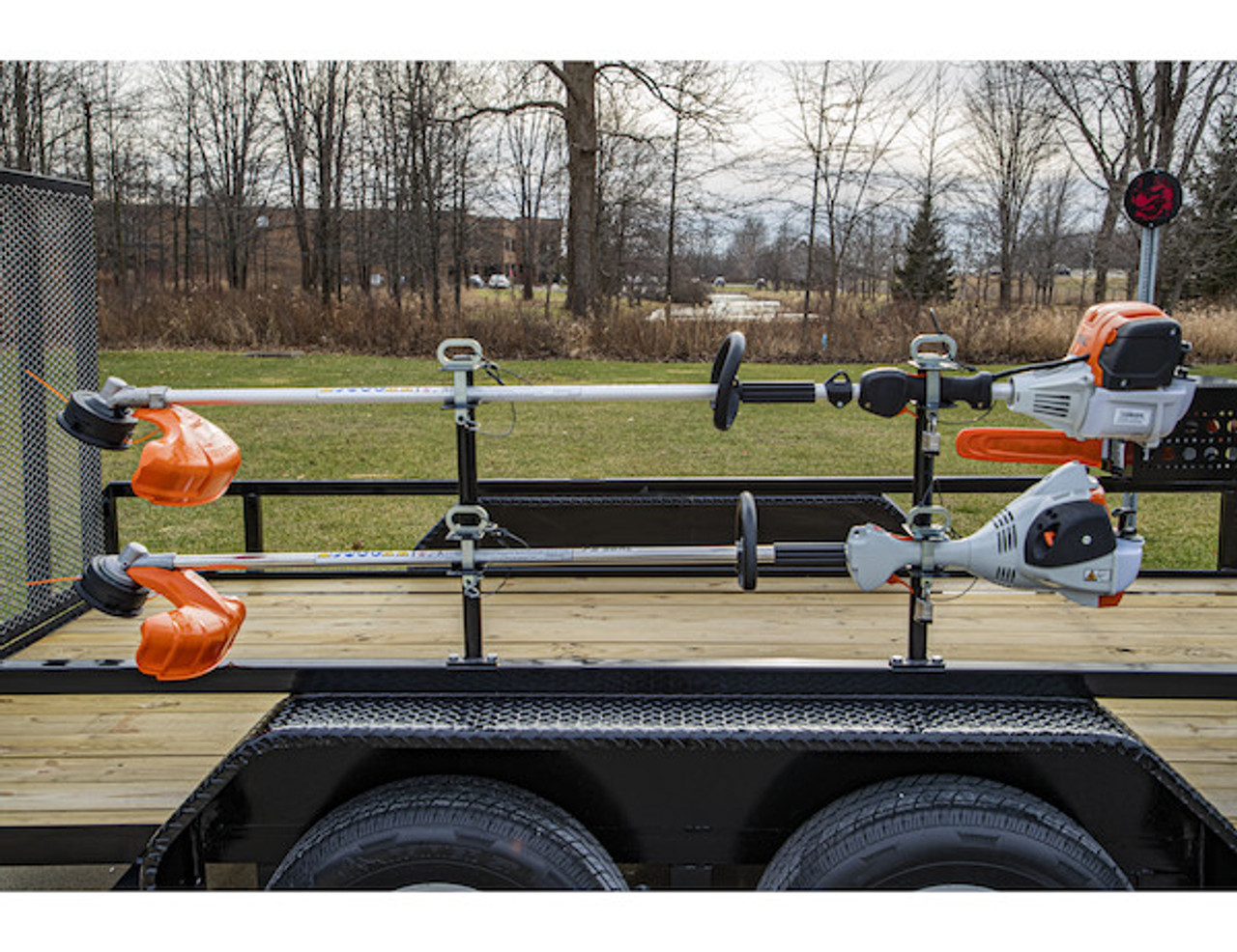 Buyers LT18 Lockable Trimmer Rack Carrier Holder for Up to 2 Trimmers for Trailers and Trucks Picture # 2