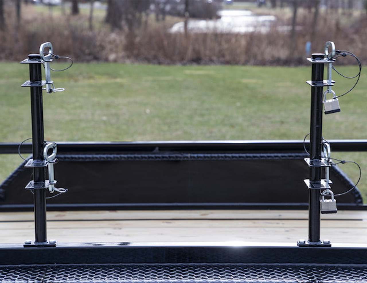 Buyers LT18 Lockable Trimmer Rack Carrier Holder for Up to 2 Trimmers for Trailers and Trucks Picture # 3