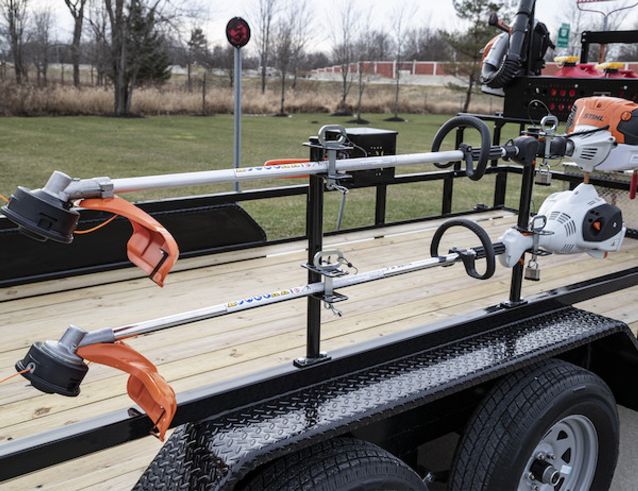Buyers LT18 Lockable Trimmer Rack Carrier Holder for Up to 2 Trimmers for Trailers and Trucks Picture # 4