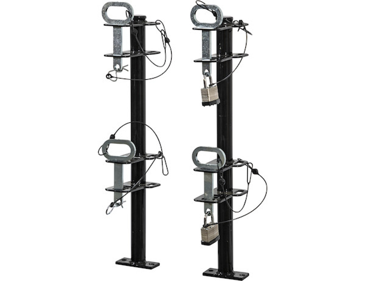 Buyers LT18 Lockable Trimmer Rack Carrier Holder for Up to 2 Trimmers for Trailers and Trucks Picture # 5