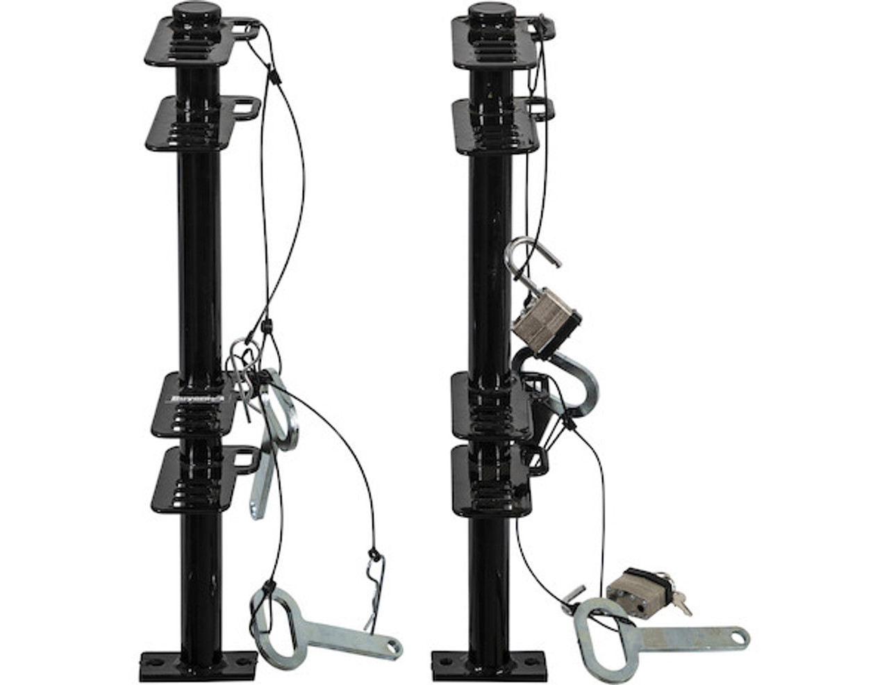 Buyers LT18 Lockable Trimmer Rack Carrier Holder for Up to 2 Trimmers for Trailers and Trucks Picture # 7