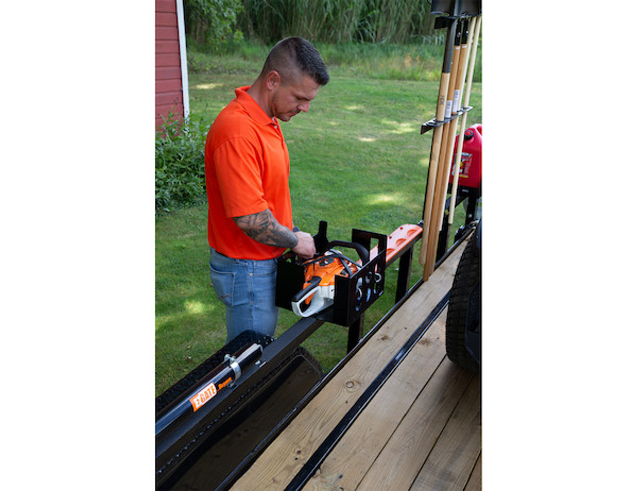 Buyers LT15 Multi-Rack storage for hedge trimmers, chainsaws and blowers for Trailers and Trucks Picture # 4