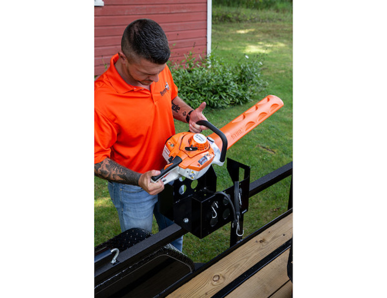 Buyers LT15 Multi-Rack storage for hedge trimmers, chainsaws and blowers for Trailers and Trucks Picture # 5