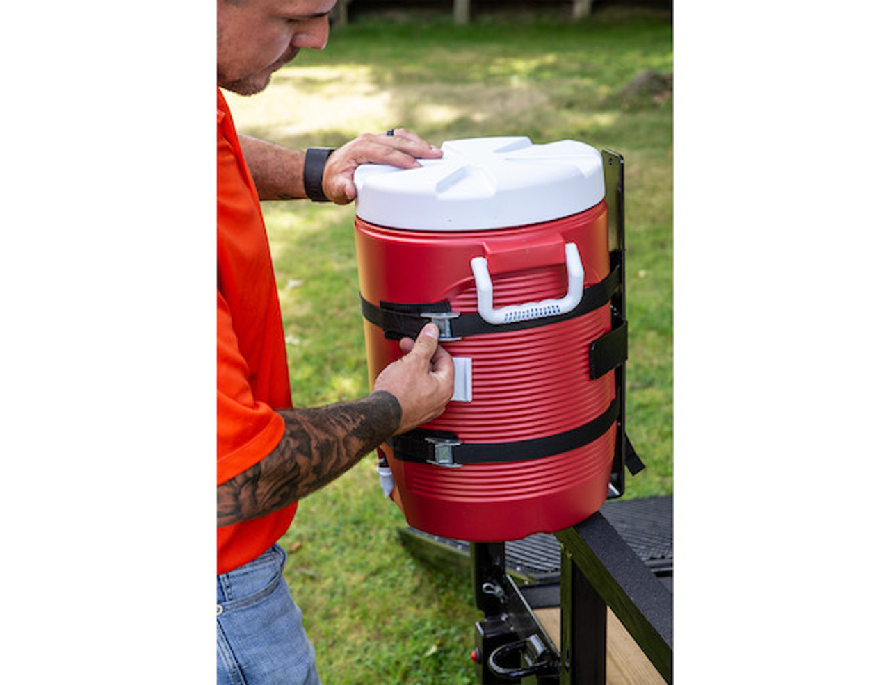 Buyers LT25 Water Cooler Rack for Landscaping Trailers, Utility Vehicles and Garages Picture # 6